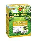 COMPO  FLORANID® Start-Rasen Langzeit-Dünger, Rasenpflege für eine optimale Langzeitversorgung des Rasens für bis zu 3 Monate, sorgt für sicheres Anwachsen junger Rasenpflanzen, 5 kg für 200 m²