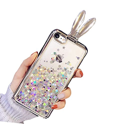 Case iPhone 6 Plus,iPhone 6S Plus Cover,Diamante Bling Glitter Lusso Cristallo Strass Morbida Rubber Full body [Rotazione Grip Ring Kickstand] con Supporto Dellanello Shock-Absorption Bumper e Anti-S Pattern 01