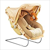 #4: Toyshine 12 In 1 Delux Carry Cot Bouncer with Music, Brown
