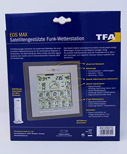TFA Dostman Funkwetter Station Eos Max silber - 7
