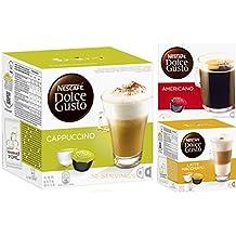 Nescafe - Detalles about nescafé dolce gusto cappuccino, americano y latte macchiato 3pack 32servings tazas