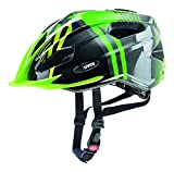 Uvex Kinder Quatro junior Mountainbikehelm, Green-Anthracite, 50-55 cm