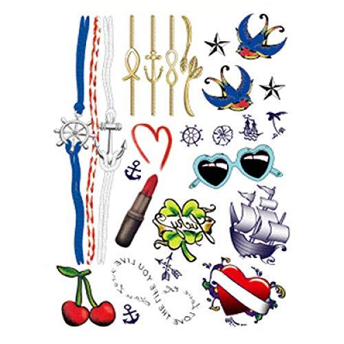 Blume Arm Tattoo Aufkleber eine Generation von Mode wasserdicht Tattoo Aufkleber Geisha Connaught Half-Arm Tattoo Aufkleber 3Pcs-1 148 * 210MM (3 Generationen Bilderrahmen)