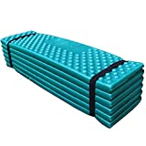 Romsion Outdoor Wasserdichte Matratze Sleeping Pad Ultralight Schaumstoff Isomatte Faltbare Matte...