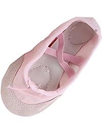 750bc9b357df Pair Of Kids Toddlers Boy Girl Canvas Anti Slip Elastic Drawstring Dance  Ballet Shoes Pink US