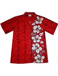 Camicia Hawaiana da Uomo Classico Rosso 100% Cotone Taglia M - 6XL 8847ecb086d0