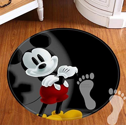 ROOMBA Runde Badematten für Badezimmer, rutschfeste Unterseite, Badvorleger für Böden, Dusche, Küche, Flanell, 50,8 cm - Best Mickey Mouse
