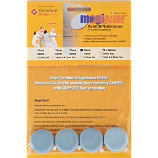 Furniture & Appliance Movers by MagiGLIDE 4 Pack 30mm Disc. The ULTIMATE glider for furniture & appliances with complete floor protection, endorsed by Karndean Designflooring