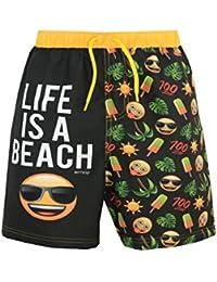 Emoji Jungen Sonne und Palmen Badeshorts