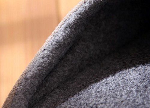 Les pantoufles de coton dhiver des hommes chauds caoutchouc antidérapant à la fin des chaussures en coton silencieux 44
