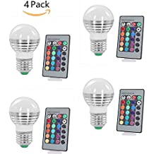 (Pack of 4)Lennystone® 3W Lampada Bulbo a LED con IR
