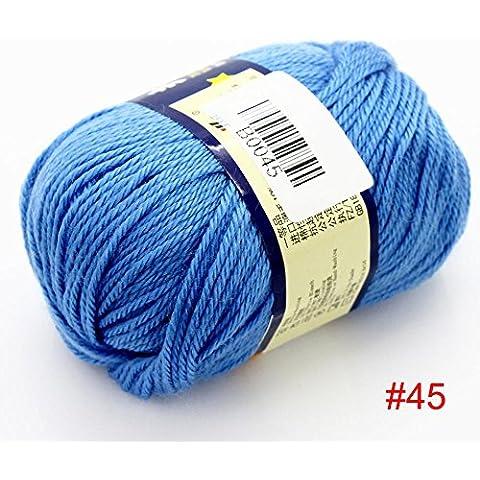Nuovo / set 50g morbida lana pettinata maglione di cashmere maglieria lavorata a maglia caldo del filato Media bambino 2 palle