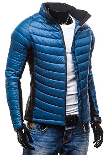 Herrenjacke Herren Jacke Ski Steppjacke Winterjacke FREESTEP S011 Blau
