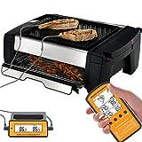 Hinmay Kabelloser Digital elektrische Fleisch Thermometer Fernbedienung Home Kochen Ofen Thermometer mit Dual-Sonde Überwachung Temperatur für BBQ Grillen Küche Smoker für rot, weiß Fleisch