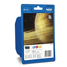 Brother LC1100C/LC1100M/LC1100Y Inkjet Cartridges, Rainbow Pack, Standard Yield, Cyan, Magenta and Yellow, Brother Genuine Supplies