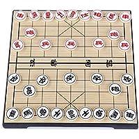 Gobus Chinesisches Schachspiel Reise Spiel Set Xiangqi, Schach Größe: 2,36 cm Durchmesser (Faltbare Box Schachbrett)