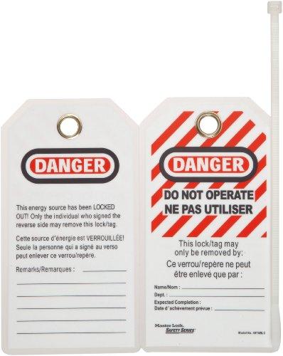 Master Lock Heavy Duty Gefahr Tag, Polyester, 5–3/10,2cm Höhe, 7,6cm Breite, Do Not Operate (English/French), 12 (Heavy-duty-master Lock)