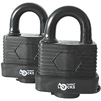 Target Locks® - Juego de 2 candados resistentes al agua TL171 con 6 llaves –