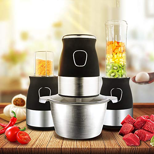 ZUEN Tragbarer persönlicher Blender Mixer Food Prozessor mit Chopper Bowl 600ml Juicer Bottle Meat Grinder Baby Food (Chopper Und Blender)