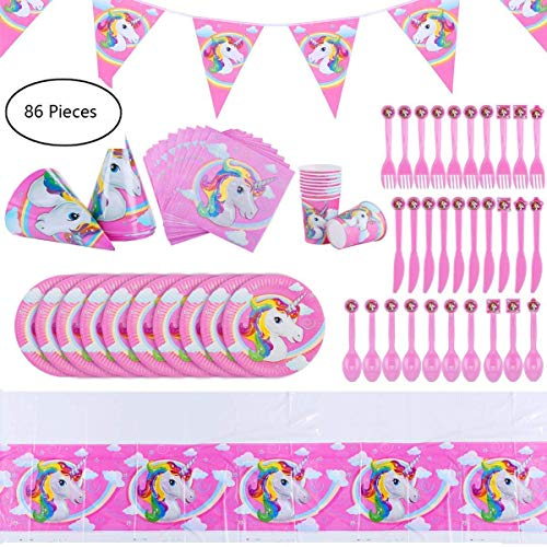 Unicorn Birthday party Decorations Supplies kit