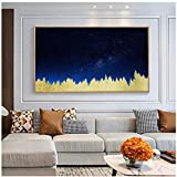 Canvas Painting Night Painting Christmas Birthday Unique Gift Gold foil Painting -60x120cm No Frame