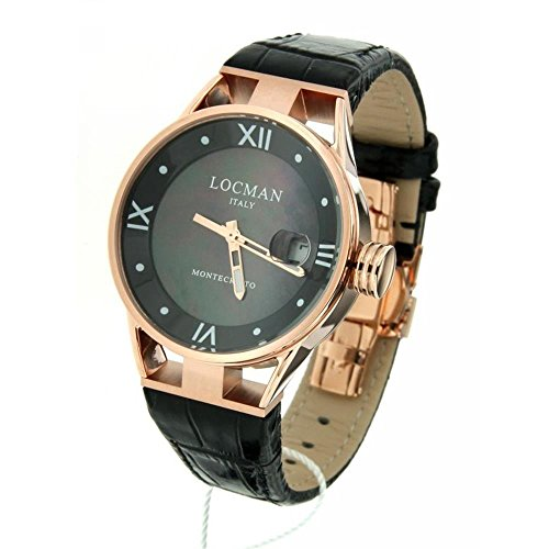 Locman Women's Quartz Watch 34 mm Leather Strap Black 0521 V14-rrmk00pk