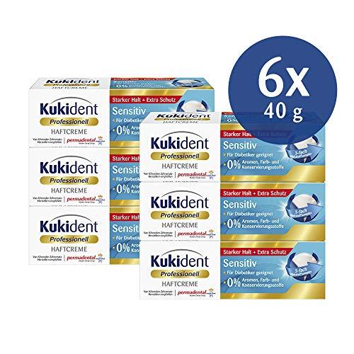 Kukident Haftcreme Sensitiv für das Gebiss, 6er Pack (6 x 40 g)