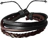 #6: Cairo Bronze Leather Multistrand Bracelet For Men