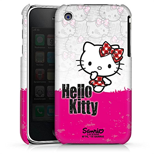 DeinDesign Premium Case kompatibel mit Apple iPhone 3Gs Hülle Handyhülle Hello Kitty Merchandise Fanartikel Pink Punk