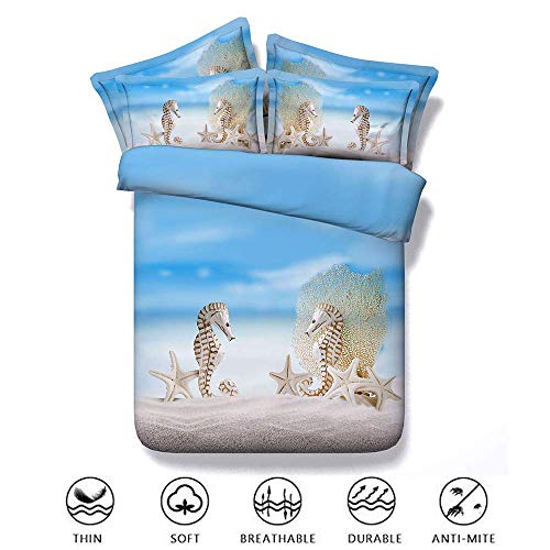Bettwäscheset Bettwäsche-Set 3-teilig 3d Pinted Dolphin Jungen Mädchen Single Double Super King Size, Effekt mit Kissenbezügen Zipper Quilt Case Soft NonKids Childrens (Baby-mädchen Camo-bettwäsche Kinderbett-sets)