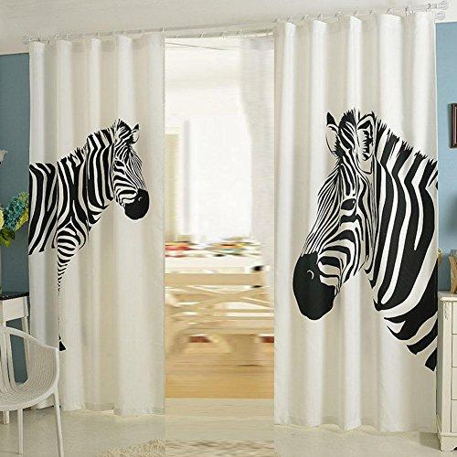 Vorhänge Wohnzimmer Blackout Schlafzimmer Zebra Vorhang 2 STÜCKE , zebra , 130*270cm (Zebra Thermische Vorhänge)
