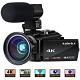 4K Camcorder, Aabeloy Vlogging Video Camera Ultra HD Wi-Fi Digital Camera 48.0MP 3.0