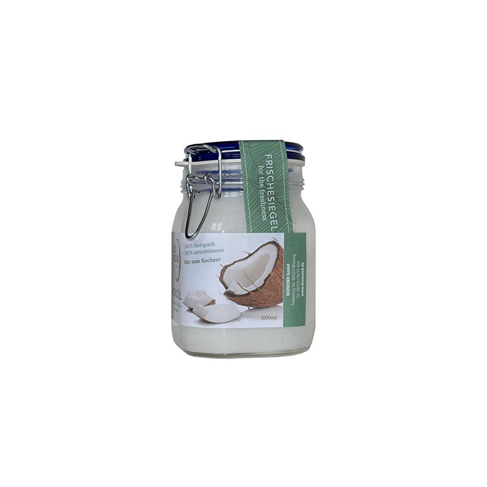 Bio Kokosl Von Biomond 1000 Ml Kaltgepresst Nicht Raffiniert Vorteilsgre Virgin Coconut Oil