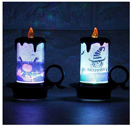 4 Stück Halloween LED Lichter Kerze Lampe Mehrfarbig -