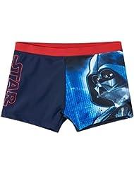 Boxer de bain enfant garçon Star wars Marine/rouge de 6 à 12ans