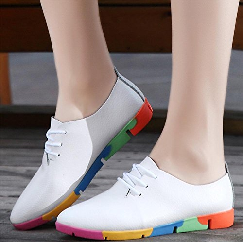 Mme printemps et lautomne Mme chaussures dascenseur chaussures de sport chaussures de sport chaussures blanches White