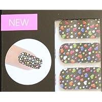 Cala Nail Strips -Black & Multicolors 3d