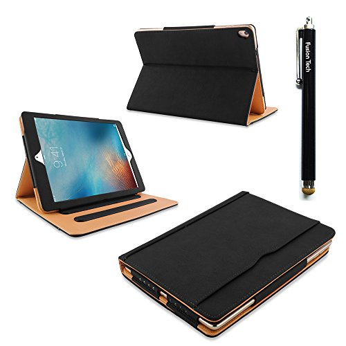 usionTech® - Slim Fit Leder Folio Schutzhülle mit Smart Cover Auto Sleep/Wake Funktion für Apple iPad mini 4 [Modell 201] ()