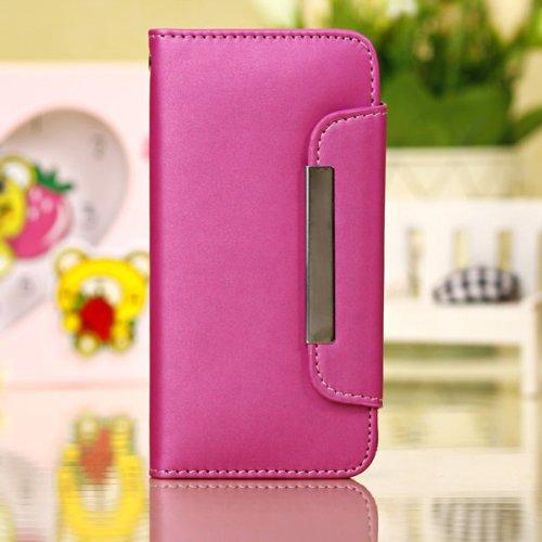 Mode PU cuir Wallet Housse de protection pour iPhone 5C noir