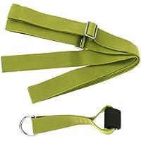 Baoblaze 1 Pc de Banda Elástica + 1 Pc de Ancla de Puerta Adecuado para Entrenamiento de Flexibilidad y Equilibrio de Cuerpo - Verde