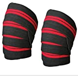 Kango Fitness Power Lifter Weight Lifting Knee Wraps Straps Supports Gym Training