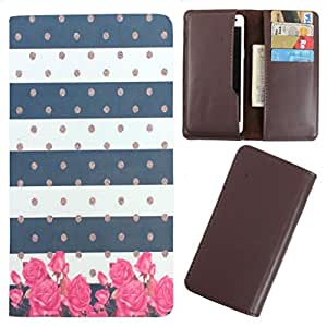 DooDa - For Micromax Knight 2 E471 PU Leather Designer Fashionable Fancy Case Cover Pouch With Card & Cash Slots & Smooth Inner Velvet