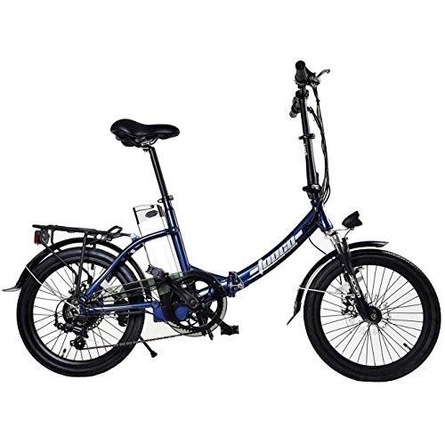 TOOCO ALU Elektrofahrrad FROUME 20″ E-Bike Klapprad Faltrad Elektro Fahrrad 20 Zoll E Bike (Dunkelblau)