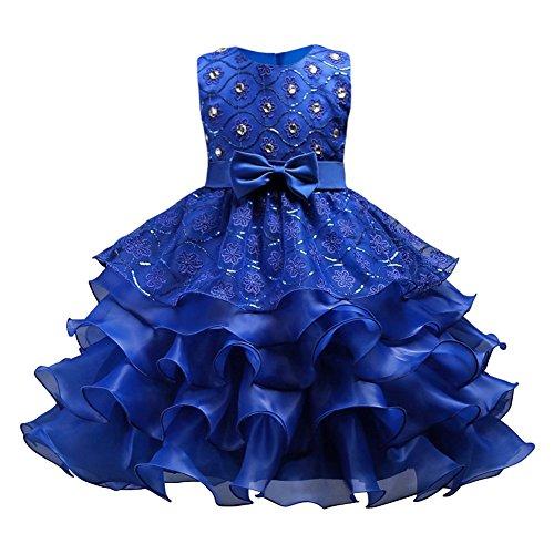 Kostüm Hochzeit Tanz Kleid - Hougood Mädchen Kleid Prinzessin Kleid Tanz Kostüme Pailletten Diamant Tanzkleid Hochzeit Geburtstagsparty Prom Formelle Anlässe Dress Up