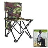 Outdoor Portable Angeln Stuhl Kunst Malerei BBQ Camouflage Faltbarer Hocker (XL)