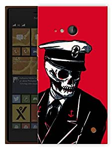 """Humor Gang Captain Skully Printed Designer Mobile Back Cover For """"Nokia Lumia 730"""" (3D, Matte Finish, Premium Quality, Protective Snap On Slim Hard Phone Case, Multi Color)"""