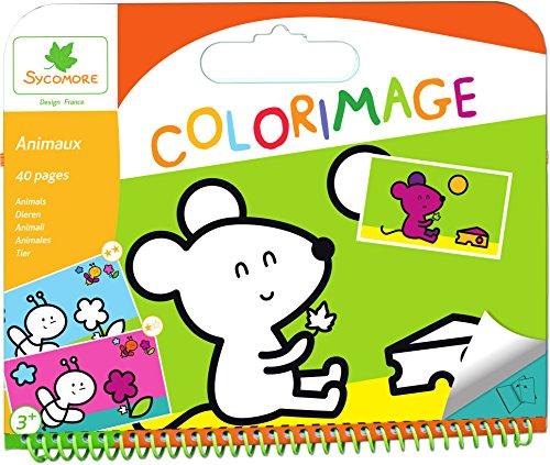 Sycomore CRE6013 - Coloriage Enfant - Coloriages Animaux 40 Pages - 3+ Ans