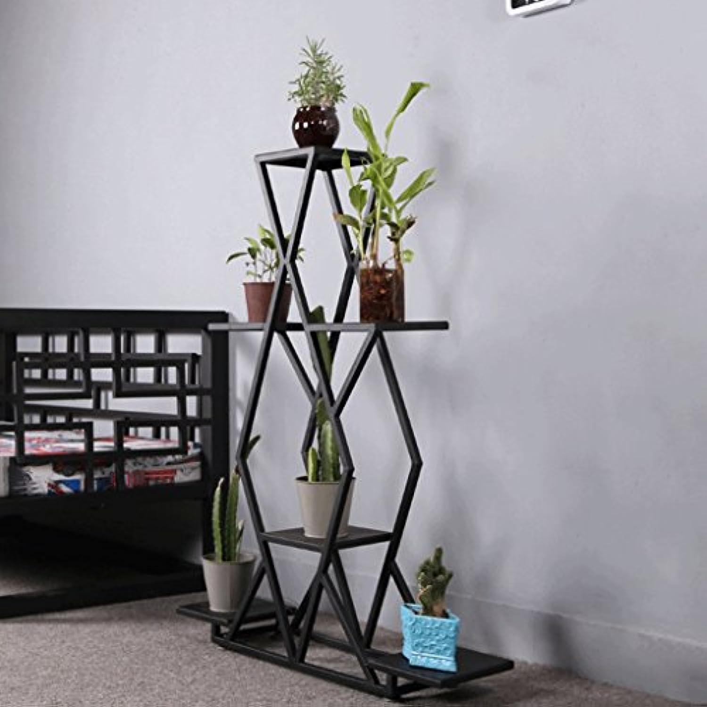 Stand de fleur fleur fleur suspendu orchidée vert en bois multi-couche en bois massif salon balcon etagere pour (taille : Three trays) 64d412