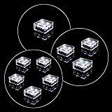 Solar Glasstein Pflasterstein Bodenleuchte Dekoleuchte mit 4 LED – 9,5 x 9,5 x 4,5 cm – robustes Milchglas – mit Akku & Dämmerungssensor – weiß einzeln 3er 5er Set wählbar (Einzeln)