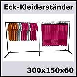 300x150x60 PROFI ECKSTÄNDER KLEIDERSTÄNDER TEXTILSTÄNDER GARDEROBE-K300